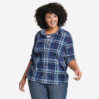 Women's Packable Long-Sleeve Shirt in Blue