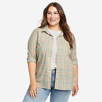 Women's Packable Long-Sleeve Shirt in Green