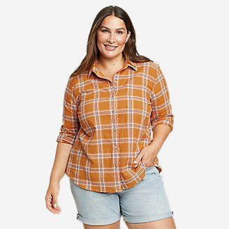 Women's Packable Long-Sleeve Shirt in Yellow