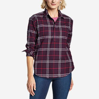 Women's Stine's Favorite Flannel Popover Shirt in Purple