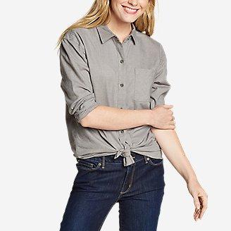 Women's Stine's Favorite Flannel Boyfriend Shirt - Solid in Gray