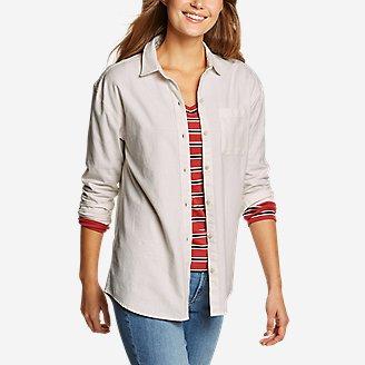 Women's Stine's Favorite Flannel Boyfriend Shirt - Solid in Beige