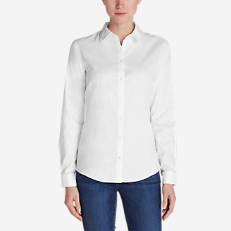 Women's Wrinkle-Free Long-Sleeve Shirt - Solid in White