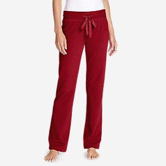 Women's Cabin Fleece Pants in Red