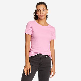 Women's Favorite Short-Sleeve Crewneck T-Shirt in Red