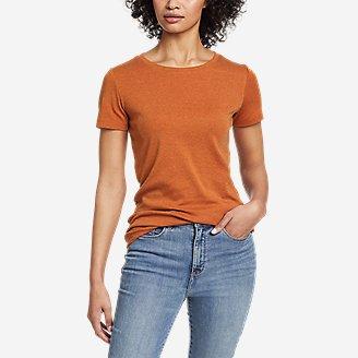 Women's Favorite Short-Sleeve Crewneck T-Shirt in Orange
