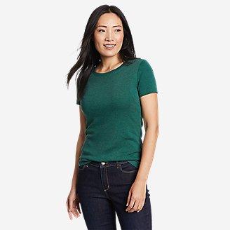 Women's Favorite Short-Sleeve Crewneck T-Shirt in Green