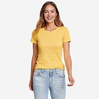 Women's Favorite Short-Sleeve Crewneck T-Shirt in Yellow