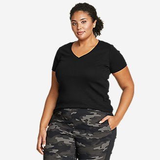 Women's Favorite Short-Sleeve V-Neck T-Shirt in Black