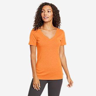 Women's Favorite Short-Sleeve V-Neck T-Shirt in Orange