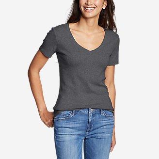 Women's Favorite Short-Sleeve V-Neck T-Shirt in Gray