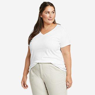 Women's Favorite Short-Sleeve V-Neck T-Shirt in White