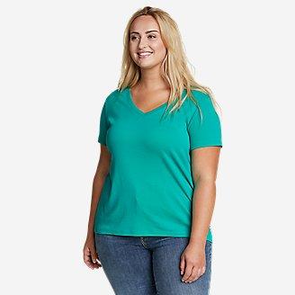 Women's Favorite Short-Sleeve V-Neck T-Shirt in Green