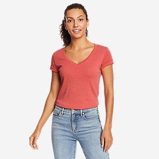 Women's Favorite Short-Sleeve V-Neck T-Shirt in Red