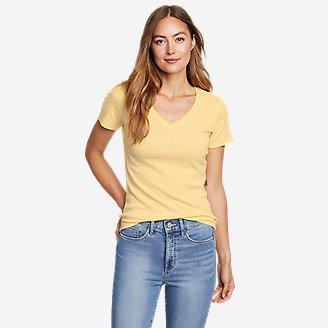 Women's Favorite Short-Sleeve V-Neck T-Shirt in Yellow