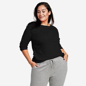 Women's Favorite Long-Sleeve Crewneck T-Shirt in Black