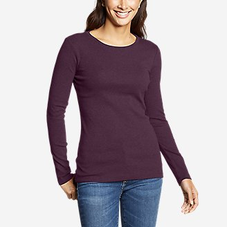 Women's Favorite Long-Sleeve Crewneck T-Shirt in Purple
