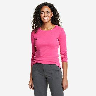Women's Favorite Long-Sleeve Crewneck T-Shirt in Red