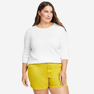 Women's Favorite Long-Sleeve Crewneck T-Shirt in White