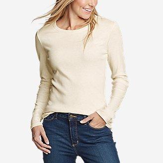 Women's Favorite Long-Sleeve Crewneck T-Shirt in Beige