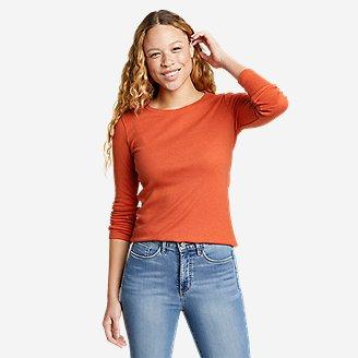 Women's Favorite Long-Sleeve Crewneck T-Shirt in Orange