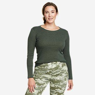 Women's Favorite Long-Sleeve Crewneck T-Shirt in Green