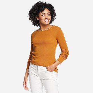 Women's Favorite Long-Sleeve Crewneck T-Shirt in Yellow