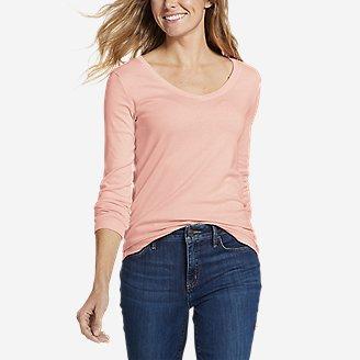 Flax Designs 3//4 Sleeve Cotton Tunic Tee Shirt   Indigo     Size  One Size Plus