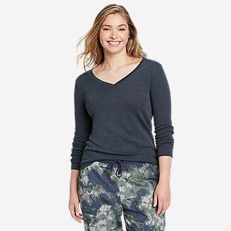 Women's Favorite Long-Sleeve V-Neck T-Shirt in Blue