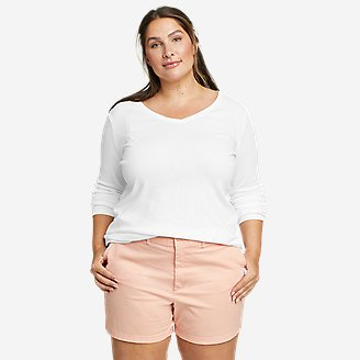 Women's Favorite Long-Sleeve V-Neck T-Shirt in White