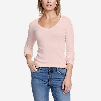 Women's Favorite Long-Sleeve V-Neck T-Shirt in White