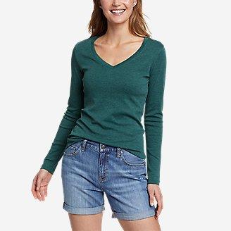 Women's Favorite Long-Sleeve V-Neck T-Shirt in Green