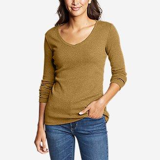 Women's Favorite Long-Sleeve V-Neck T-Shirt in Yellow