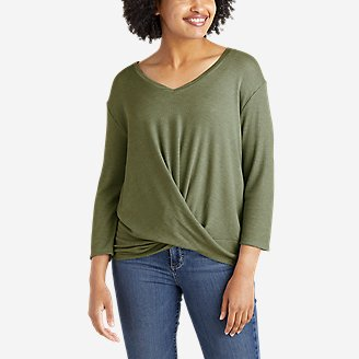 Women's Softgoods Thermal Knot-Front T-Shirt in Green