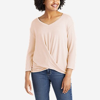Women's Softgoods Thermal Knot-Front T-Shirt in Pink