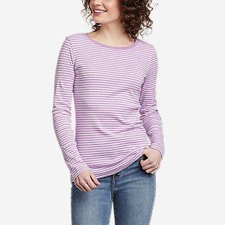 Women's Favorite Long-Sleeve Crew T-Shirt - Stripe in Purple