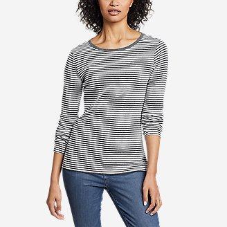 Women's Favorite Long-Sleeve Crew T-Shirt - Stripe in Gray