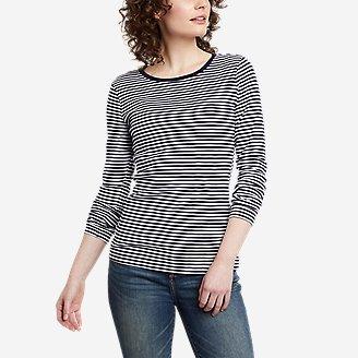 Women's Favorite Long-Sleeve Crew T-Shirt - Stripe in Blue
