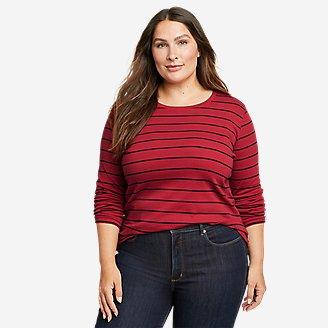 Women's Favorite Long-Sleeve Crew T-Shirt - Stripe in Red