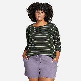 Women's Favorite Long-Sleeve Crew T-Shirt - Stripe in Green
