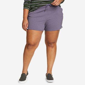 Women's Cozy Camp Fleece Shorts in Purple