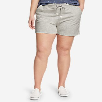 Women's Cozy Camp Fleece Shorts in Gray