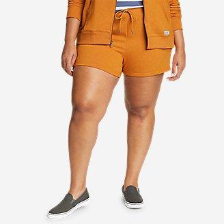 Women's Cozy Camp Fleece Shorts in Yellow