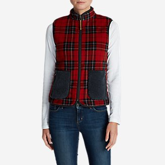 Women's Trophy Reversible Vest in Red