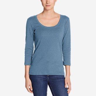 Women's Favorite 3/4-Sleeve Scoop-Neck T-Shirt in Blue