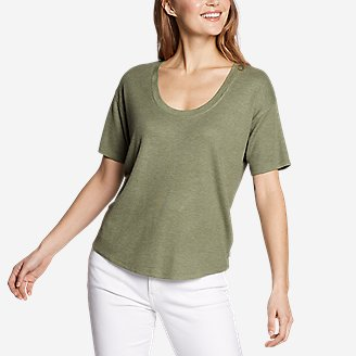 Women's Softgoods Thermal Short-Sleeve T-Shirt in Green