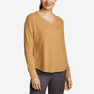 Women's Myriad Thermal V-Neck in Yellow