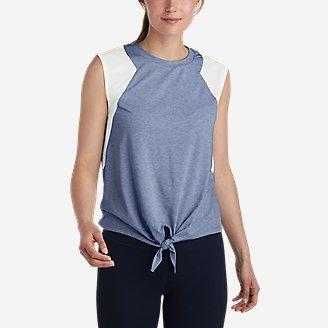 Women's Willpower Tie-Front Tank Top in Blue