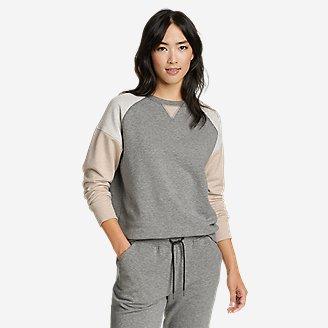 Women's Cozy Camp Sweatshirt - Color Block in Gray