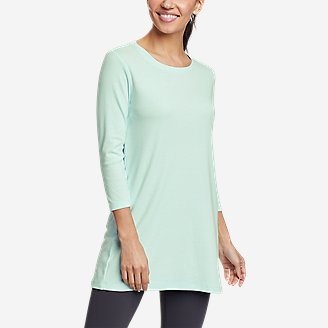 Women's Favorite 3/4-Sleeve Tunic T-Shirt in Green